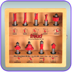 9 Piece Freud Basic Router Bit Set