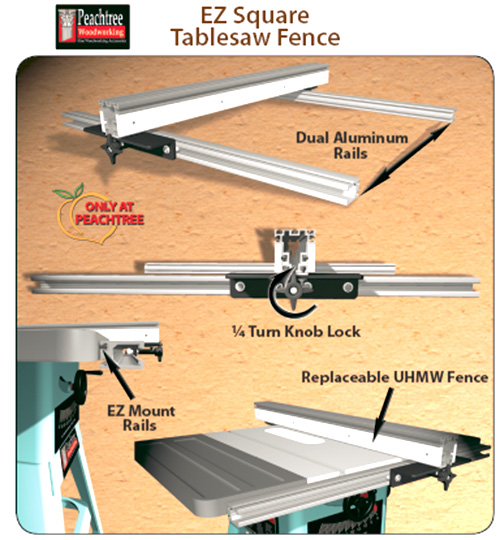 Peachtree EZ Square Table Saw Fence